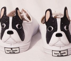 Brand New Kate Spade Lucie French Bulldog Sneakers